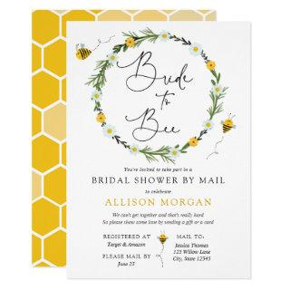 Bridal Shower by Mail Bride to Bee Invitations