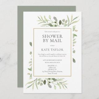 Bridal Shower By Mail Long Distance Greenery Invitation