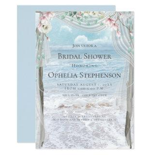 BRIDAL SHOWER | Elegant Beach Floral Arbor Invitations