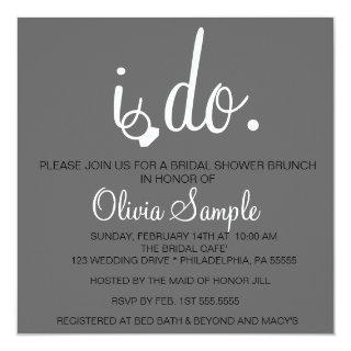 Bridal Shower I do Invitations