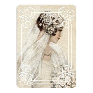 Bridal Shower Invitation 5x7 Vintage Bride w/Frame