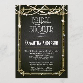 Bridal Shower invitation / Art Deco