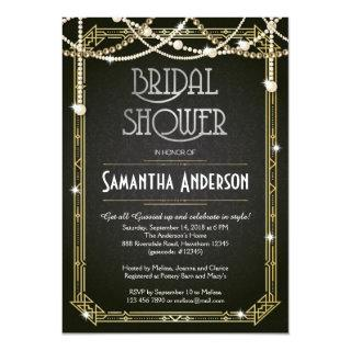 Bridal Shower Invitations / Art Deco