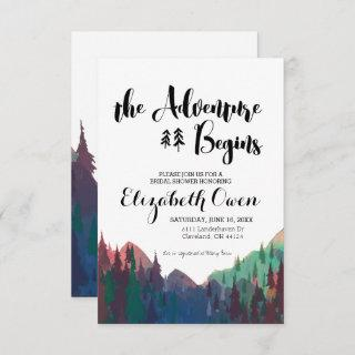 Bridal Shower Invitations - Mountain Theme