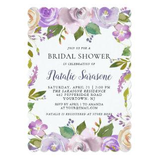 Bridal Shower Invitation Spring Floral Watercolor