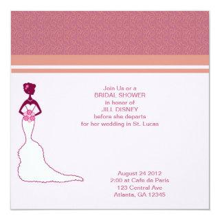 Bridal Shower Pink Invitation