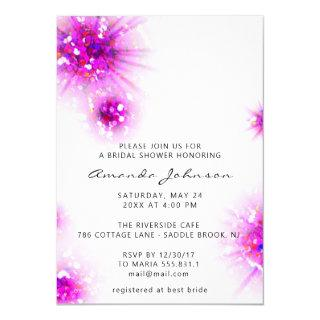 Bridal Shower Sweet 16th Abstract Pink White Invitations