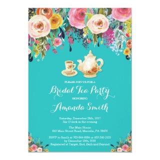 Bridal Shower Tea Party Invitation Floral