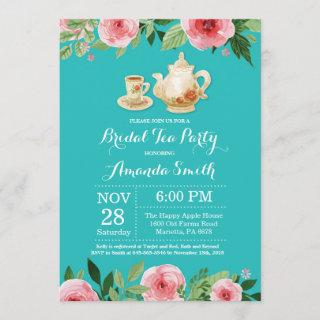 Bridal Shower Tea Party  Teal Turquoise