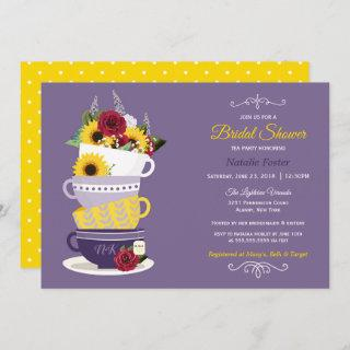 Bridal Shower Tea Party - Sunflower, Roses & Lilac