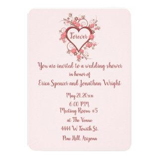 Bridal Shower with Romantic Baroque Heart Invitation
