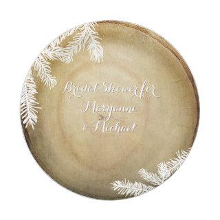 Bridal Shower Woodland Forest Center Cut Tree Paper Plate