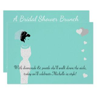 Bride & Bachelorette Bridal Shower Party Invitations