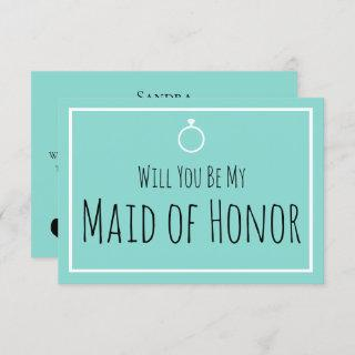 BRIDE & Bridesmaids Be My Maid Honor Shower Party Invitations