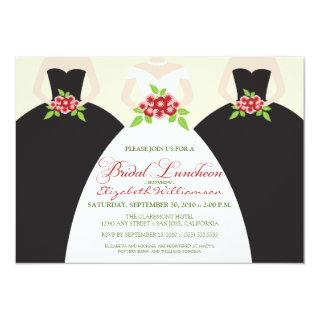 Bride & Bridesmaids Bridal Luncheon Invite (black)