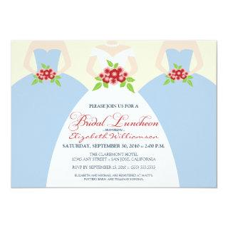 Bride & Bridesmaids Bridal Luncheon Invite (blue)