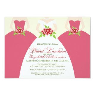 Bride & Bridesmaids Bridal Luncheon Invite (pink)