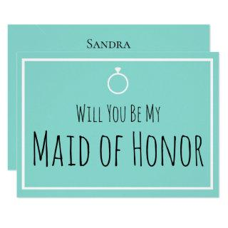 BRIDE & CO Will You Be My Maid Honor Shower Party Invitation