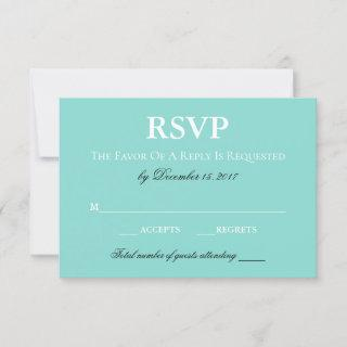 BRIDE Country Wedding Suite White Traditional RSVP Card