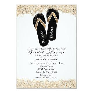 Bride Flip Flop Sandals Summer Beach Bridal Shower Invitation