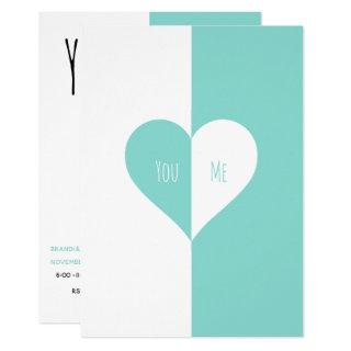 BRIDE Teal Blue You & Me Wedding Suite Party Invitation