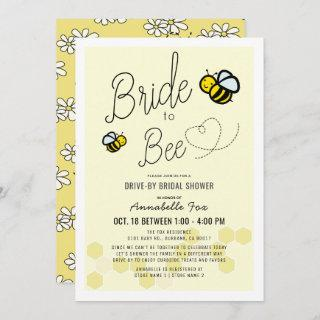 Bride to Bee Light Yellow Drive-by Bridal Shower Invitations