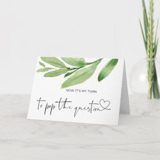 Bridesmaid Asking Pop the Question Maid of Honor Card