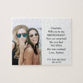 Bridesmaid / Maid of Honor Proposal Simple Photo Jigsaw Puzzle