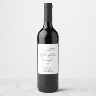 Bridesmaid Proposal Ask Gift From Bride Simple Wine Label
