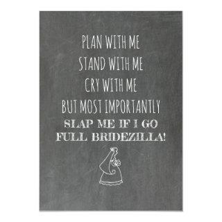Bridezilla Funny Bridesmaid / Maid of Honor Invitation