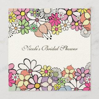Bright Blossoms Custom Bridal Shower Invitation
