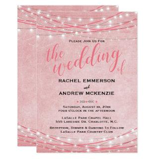 Bright Lights - Wedding Invitation -Shades of Pink
