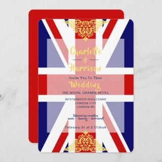 British Union Jack Flag Destination Wedding Invitations