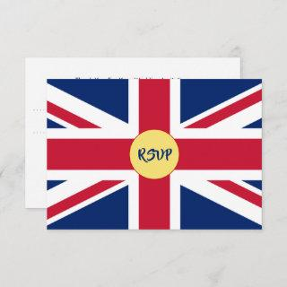 British Union Jack Flag Patriotic Wedding RSVP Car