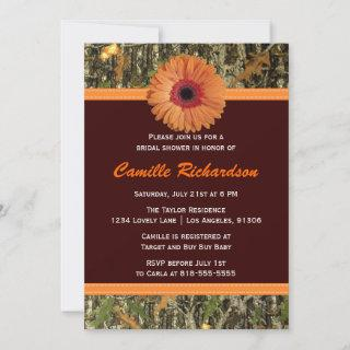 Brown and Orange Daisy Bridal Shower