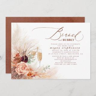 Brunch and Bubbly Bridal Shower Pampas Grass Invitations