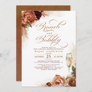 Brunch and Bubbly Bridal Shower Rust Pampas Grass