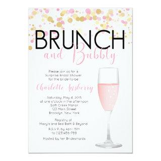 Brunch and Bubbly Floral Bridal Shower Invitations