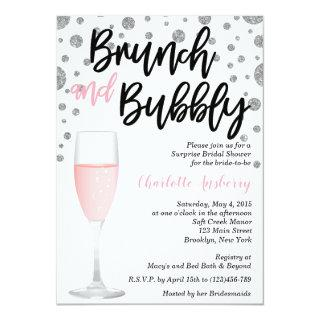 Brunch and Bubbly Pink Bridal Shower Invitations