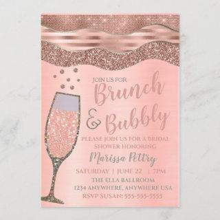 Brunch and bubbly Shower Blush Rose gold