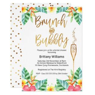 Brunch and Bubbly Tropica Bridal Shower Invitation