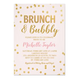 Brunch & Bubbly Invitations | Pink & Gold