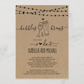 Bubble & Brew Before I Do Couple Shower Invitation