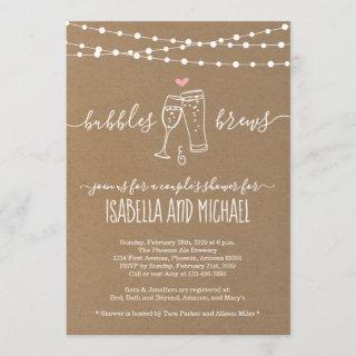 Bubble & Brews Couple's Shower Invitations