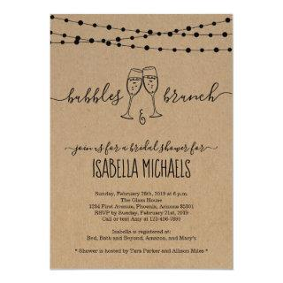 Bubble & Brunch Bridal Shower Invitations
