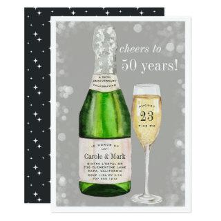 Bubbly Toast | Any Year Anniversary Party Invitations