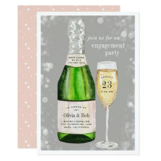 Bubbly Toast | Engagement Party Invitations