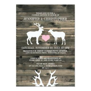 Buck and Doe Couples Wedding Shower Invitations