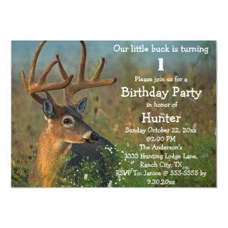 Buck Animal Birthday Party Celebration Invitation
