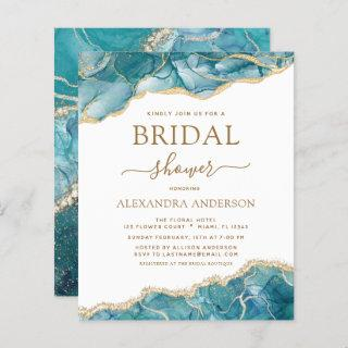 Budget Agate Turquoise Bridal Shower Teal Gold